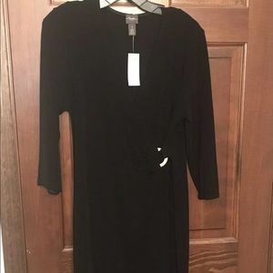 NWT Chico's Travelers Black Faux Wrap Dress